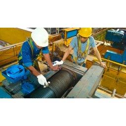 Bảo trì bảo dưỡng cáp cẩu Palang Đức hoạt động trong ngành thép