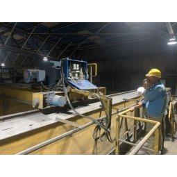 Sửa chữa bảo trì cầu trục hạng nặng trong nhà máy cán thép