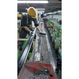 Bảo trì đường Ray P chạy cầu trục tại nhà máy Thép Việt Nhật